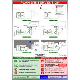 Plan d'intervention ECOLES A2 vertical Cadre alu