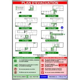 Plan d'évacuation HABITATIONS A2V cadre alu