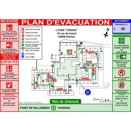 Plan d'évacuation pour écoles