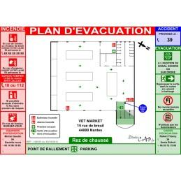 Plan d'évacuation pour magasin