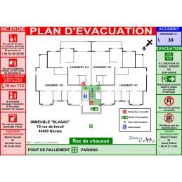 Plan incendie habitations A3 à télécharger