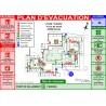 Plan d'évacuation écoles A3 plastifié