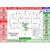 Diagramme sécurité plan d'évacuation immeuble