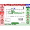 Plan d'évacuation bureau A3 plastifié