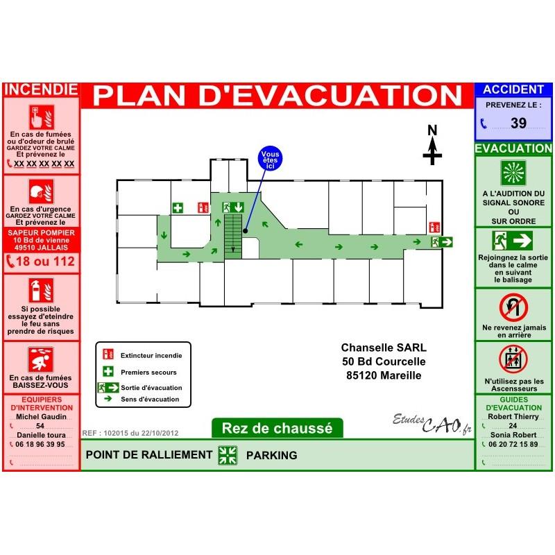 Plan d'évacuation bureau